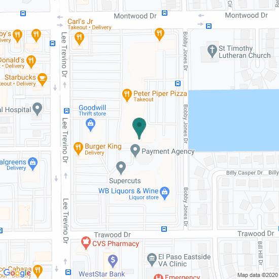 Map of Lee Trevino Dr - El Paso, TX